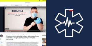 Jak w prawidłowy sposób zdejmować jednorazową maseczkę ochronną pierwsza pomoc szkolenie kurs pierwszej pomocy koronawirus covid sars maseczka chirurgiczna maseczka jednorazowa